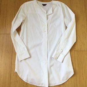 Theory White 100% Cotton Tunic Blouse Size P